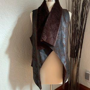 Karen Kane | Faux Leather Vest
